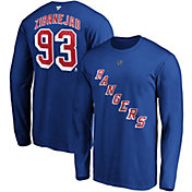NHL Men's New York Rangers Mika Zibanejad #93 Royal Long Sleeve Player Shirt