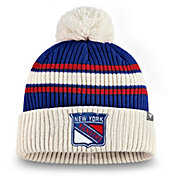 NHL Men's New York Rangers Classic Pom Knit Beanie