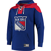 NHL Men's New York Rangers Lace Up Royal Pullover Hoodie