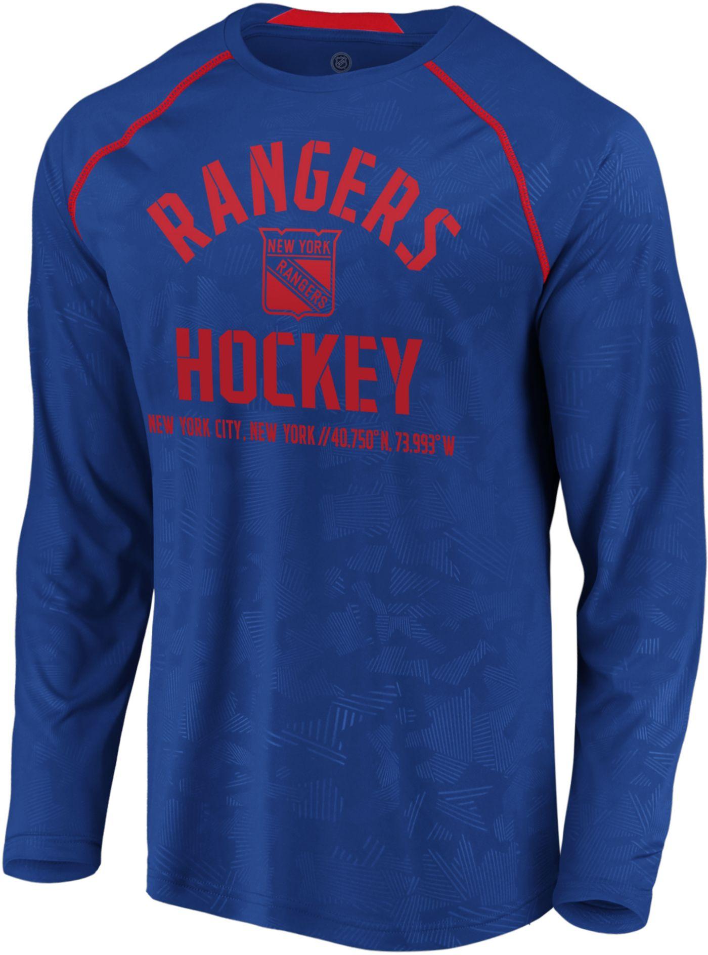 NHL Men's New York Rangers Destination Royal Long Sleeve Shirt