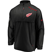 NHL Men's Detroit Red Wings Authentic Pro Rinkside Black Full-Zip Jacket