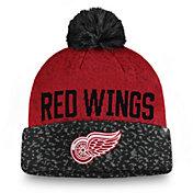 NHL Men's Detroit Red Wings Fan Weave Pom Knit Beanie