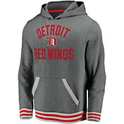 NHL Men's Detroit Red Wings Upper Class Heather Grey Pullover Hoodie