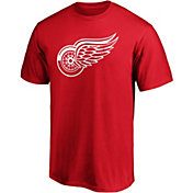 NHL Men's Detroit Red Wings Primary Logo Red T-Shirt