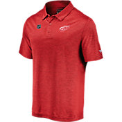 NHL Men's Detroit Red Wings Authentic Pro Striated Red Polo