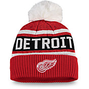 NHL Women's Detroit Red Wings Pom Knit Beanie