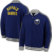 NHL Men's Buffalo Sabres Varsity Blue Full-Zip Track Jacket