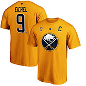 NHL Men's Buffalo Sabres Jack Eichel #9 Yellow Player T-Shirt