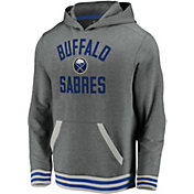 NHL Men's Buffalo Sabres Upper Class Heather Grey Pullover Hoodie