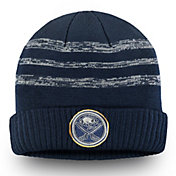 NHL Men's Buffalo Sabres Authentic Pro Clutch Navy Knit Beanie