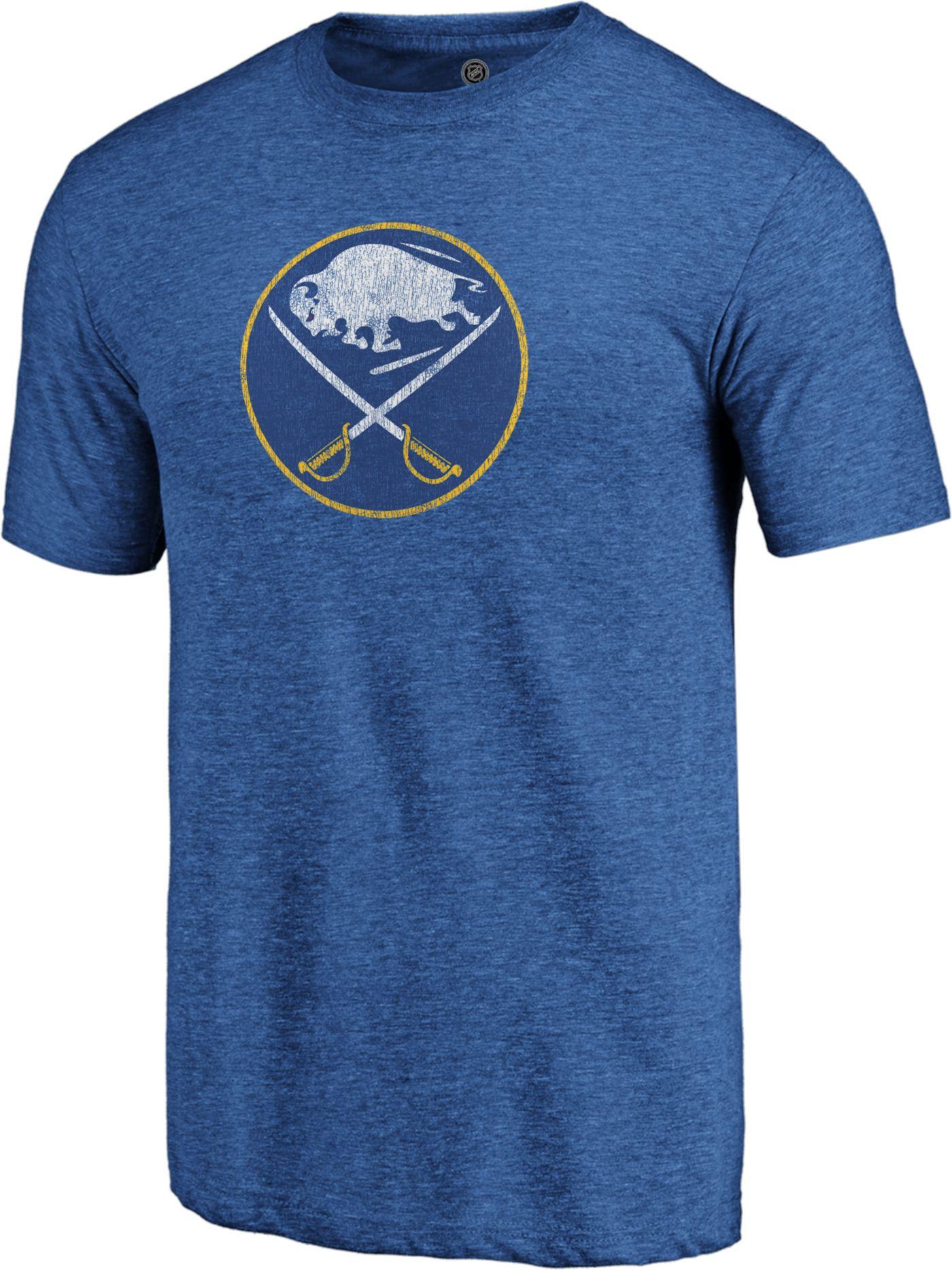 NHL Men's Buffalo Sabres Throwback Royal T-Shirt