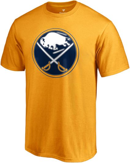 NHL Men's Buffalo Sabres Primary Logo Yellow T-Shirt