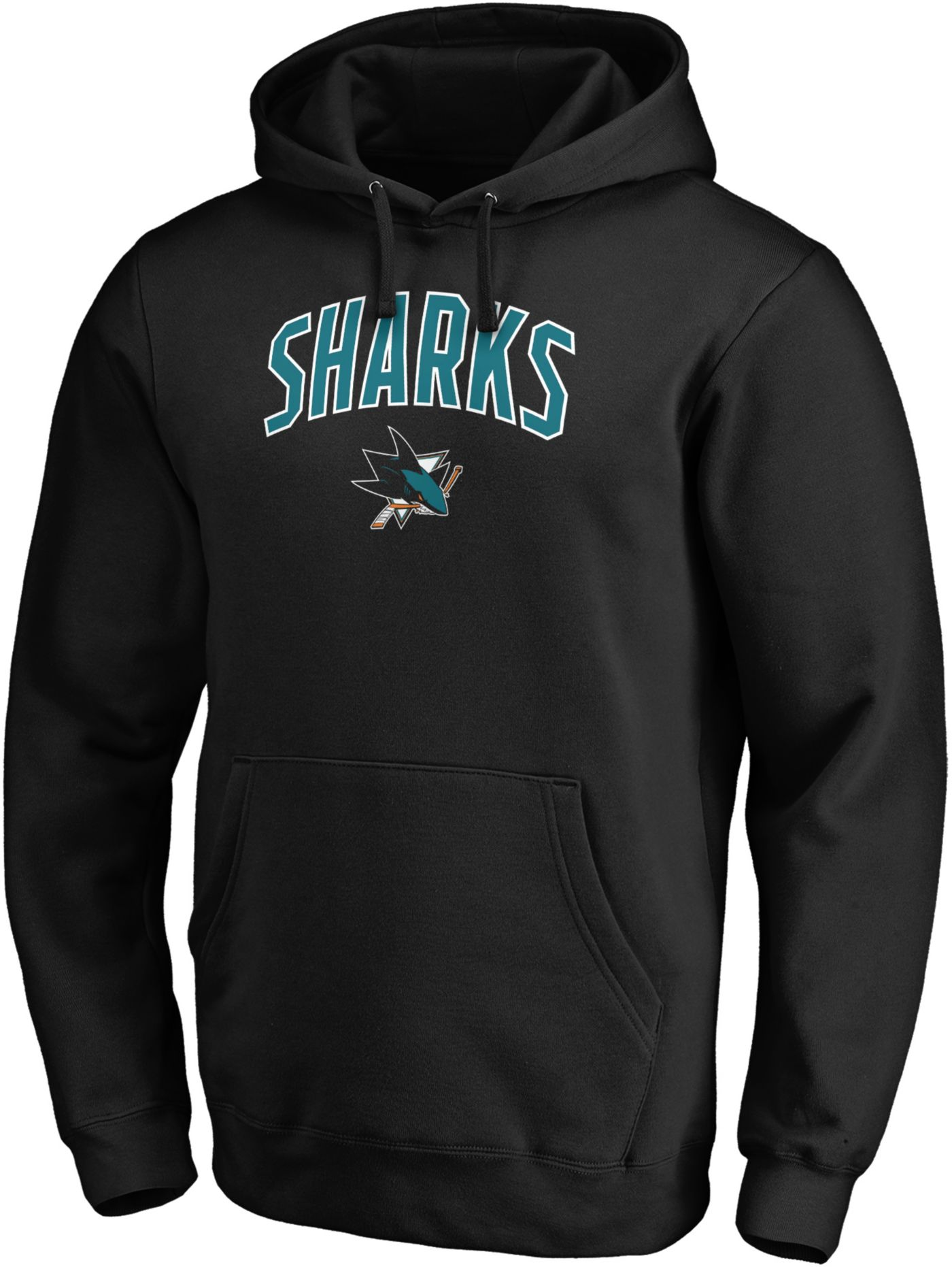 NHL Men's San Jose Sharks Engage Black Pullover Hoodie