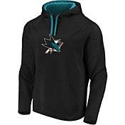 NHL Men's San Jose Sharks Logo Black Pullover Hoodie