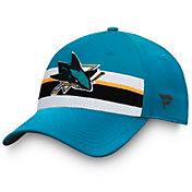 NHL Men's San Jose Sharks Authentic Pro Draft Black Flex Hat