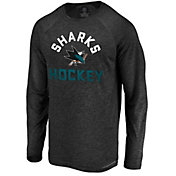 NHL Men's San Jose Sharks Breezer Black Long Sleeve Shirt