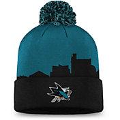 NHL Men's San Jose Sharks Hometown Black Pom Knit Beanie