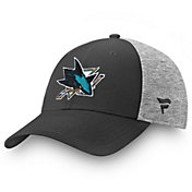 NHL Men's San Jose Sharks Logo Black Flex Hat