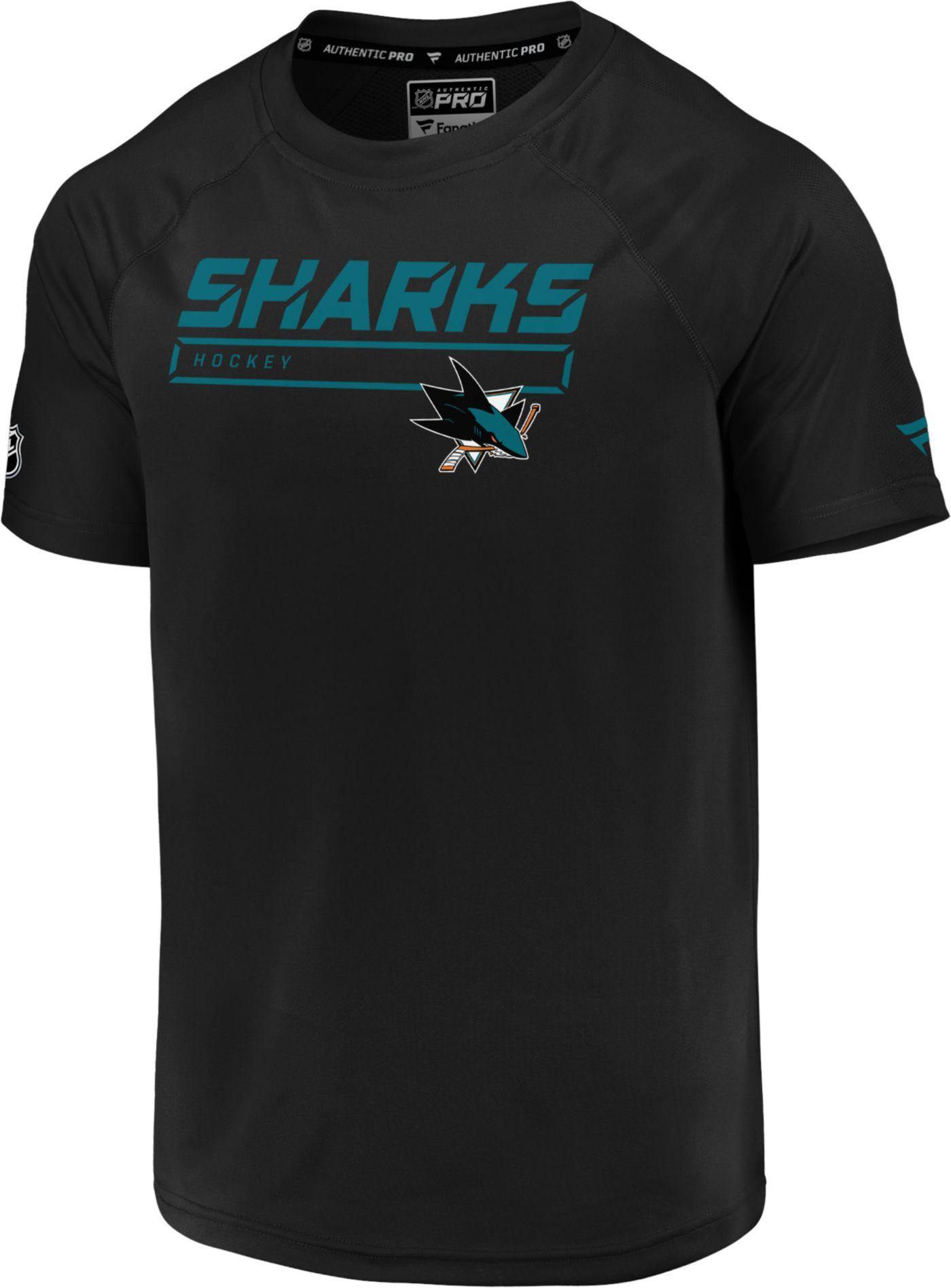 NHL Men's San Jose Sharks Authentic Pro Rinkside Black T-Shirt