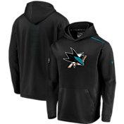 NHL Men's San Jose Sharks Authentic Pro Rinkside Fleece Black Pullover Hoodie