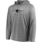 Majestic Men's San Jose Sharks Fan Flow Heather Grey Long Sleeve Hoodie Shirt