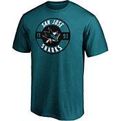 NHL Men's San Jose Sharks Teal Circle T-Shirt