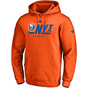 NHL Men's New York Islanders Authentic Pro Orange Pullover Hoodie