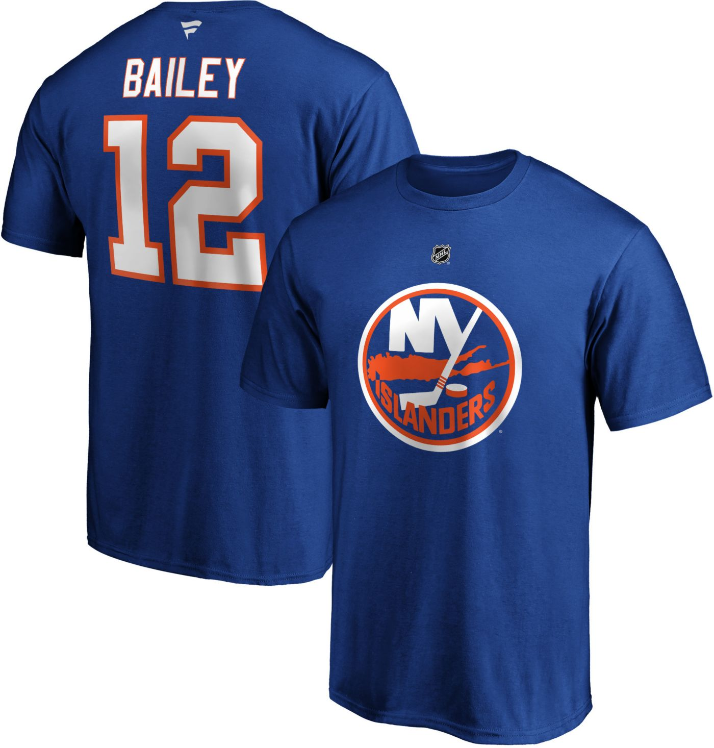 NHL Men's New York Islanders Josh Bailey #12 Royal Player T-Shirt