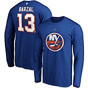 NHL Men's New York Islanders Matthew Barzal #13 Royal Long Sleeve Player Shirt