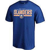 NHL Men's New York Islanders Wordmark Royal T-Shirt