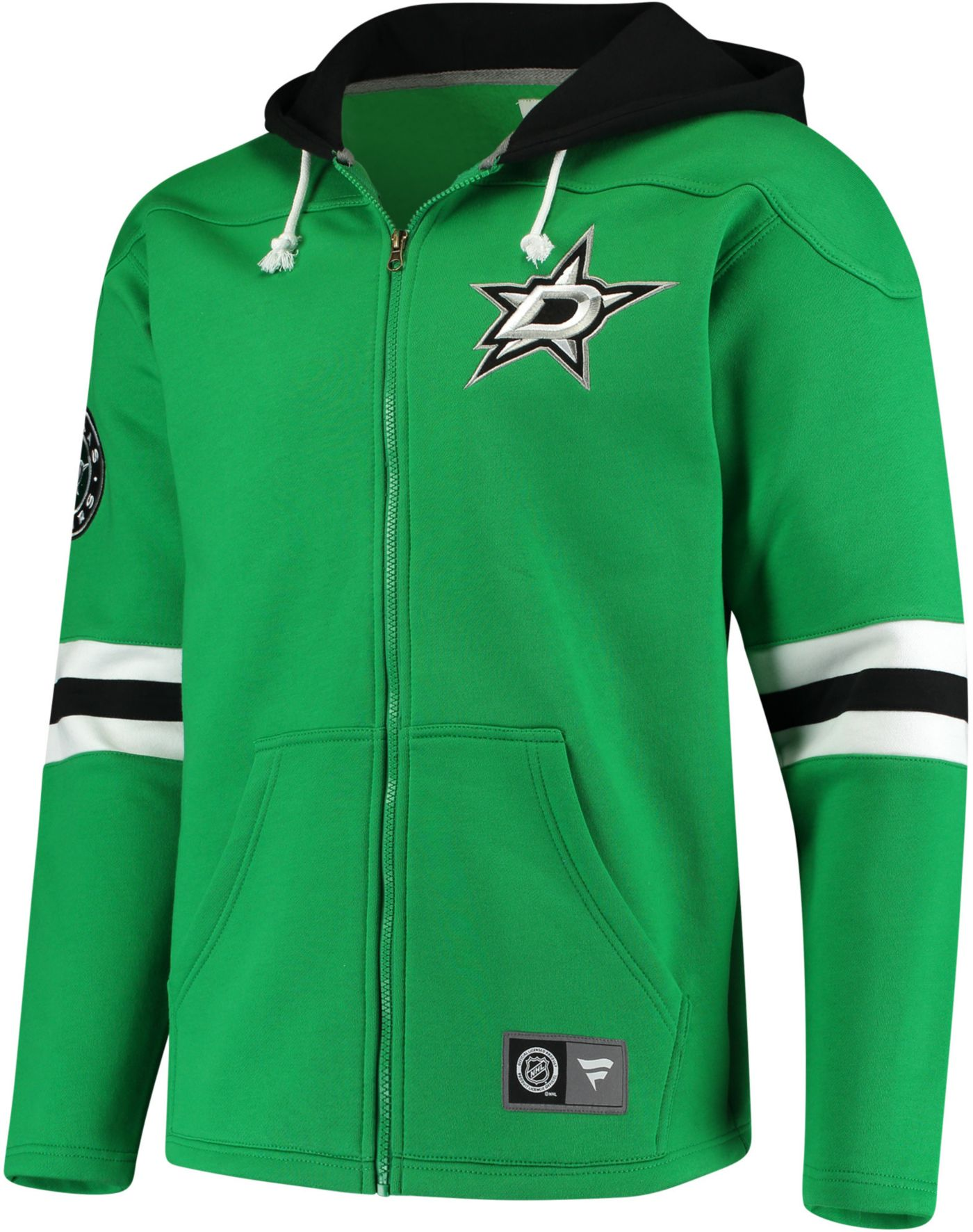 NHL Men's Dallas Stars Breakaway Green Full-Zip Sweatshirt