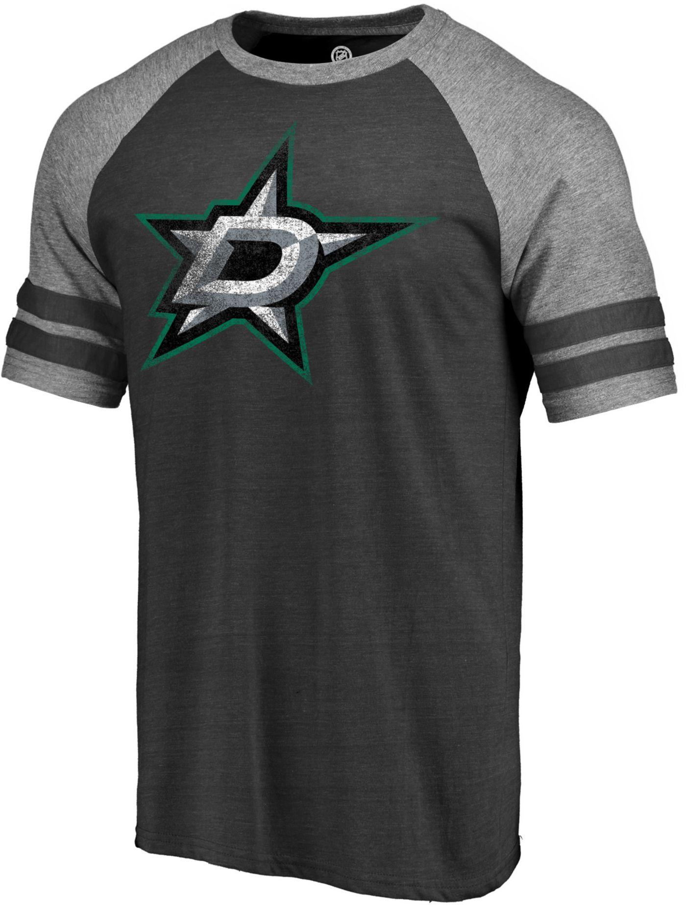 NHL Men's Dallas Stars Distressed Black T-Shirt