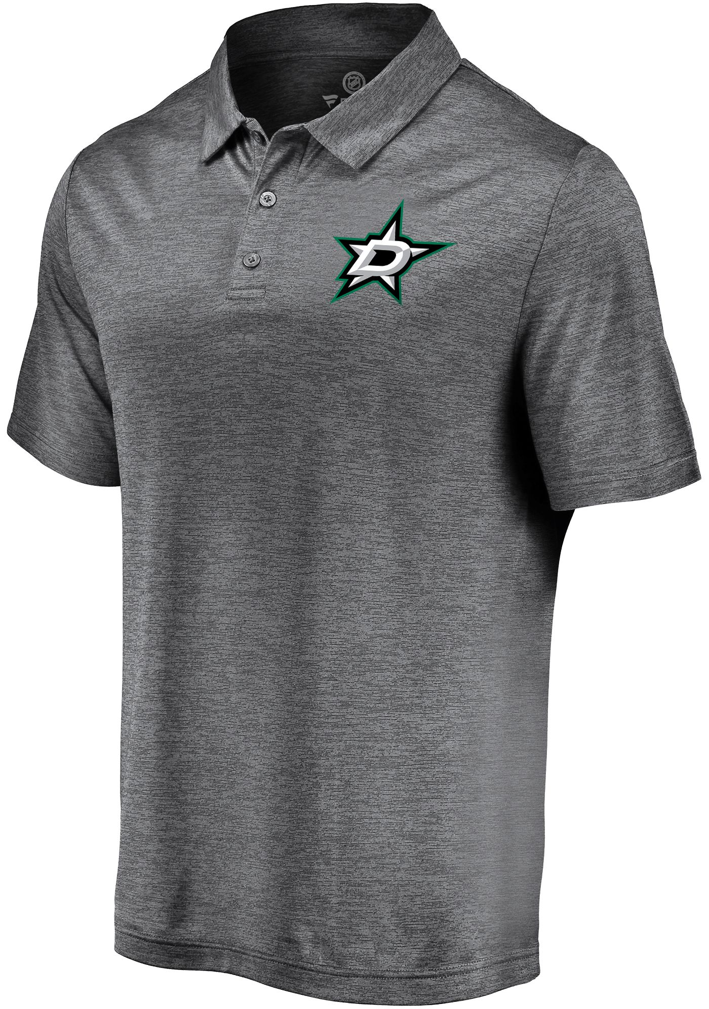 NHL Men's Dallas Stars Logo Grey Polo
