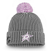 NHL Women's Dallas Stars Hockey Fights Cancer Pom Knit Beanie