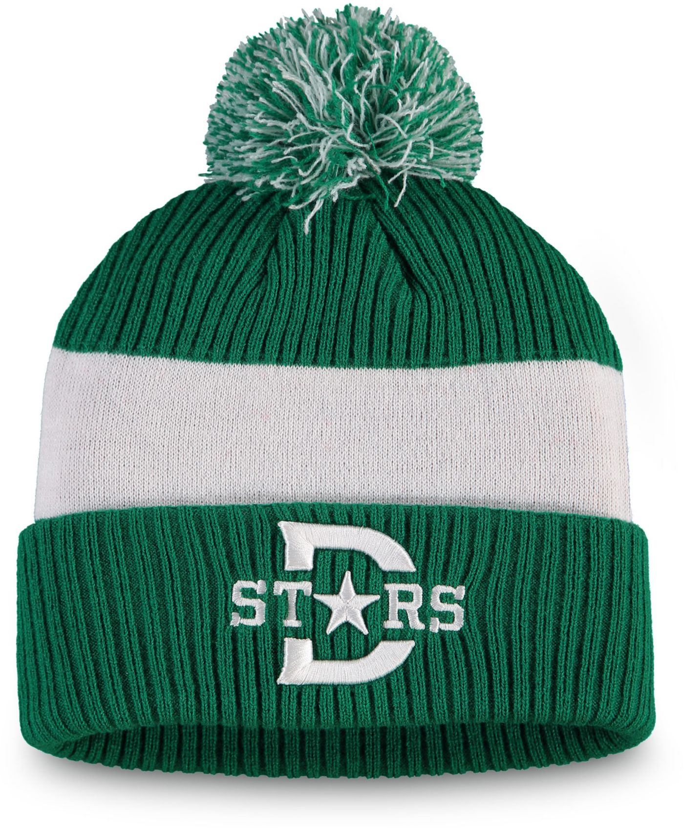 NHL Men's 2020 Winter Classic Dallas Stars Team Pom Knit Beanie