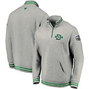 NHL Men's 2020 Winter Classic Dallas Stars Throwback Grey Quarter-Zip Pullover