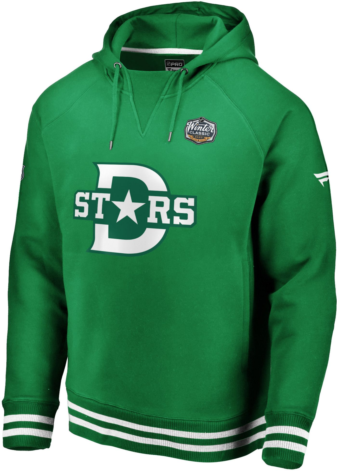 NHL Men's 2020 Winter Classic Dallas Stars Throwback Green Pullover Hoodie