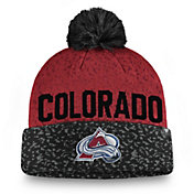 NHL Men's Colorado Avalanche Fan Weave Pom Knit Beanie