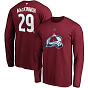 NHL Men's Colorado Avalanche Nathan MacKinnon #29 Maroon Long Sleeve Player Shirt