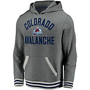 NHL Men's Colorado Avalanche Upper Class Heather Grey Pullover Hoodie
