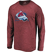NHL Men's Colorado Avalanche Vital Maroon Heathered Long Sleeve Shirt