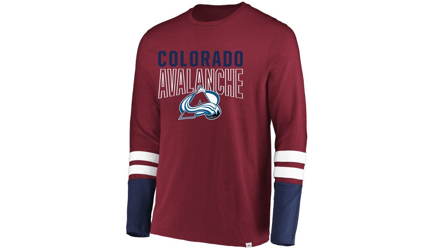 Majestic Men's Colorado Avalanche 5-Minute Major Navy Long Sleeve Shirt