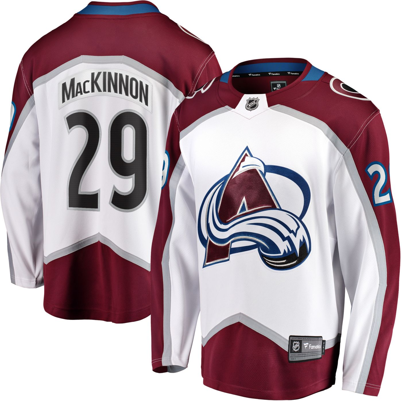 NHL Men's Colorado Avalanche Nathan MacKinnon #29 Breakaway Away Replica Jersey