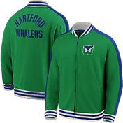 NHL Men's Hartford Whalers Varsity Green Full-Zip Track Jacket