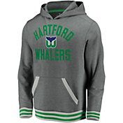 NHL Men's Hartford Whalers Upper Class Heather Grey Pullover Hoodie