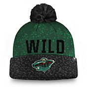NHL Men's Minnesota Wild Fan Weave Pom Knit Beanie