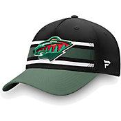 NHL Men's Minnesota Wild Alpha Black Adjustable Hat