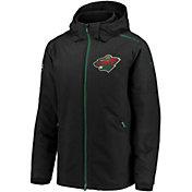 NHL Men's Minnesota Wild Rinkside Premier Black Full-Zip Jacket