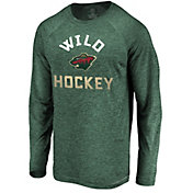 NHL Men's Minnesota Wild Breezer Green Long Sleeve Shirt