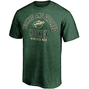NHL Men's Minnesota Wild Logo Green Tri-Blend T-Shirt